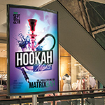 Hookah Matrix Bar Reklametafel