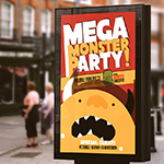 Mega Monster Party Poster